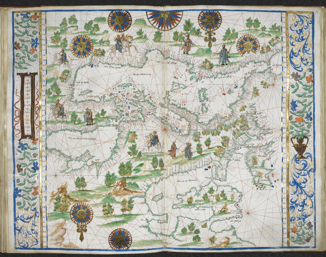 Europe And North Africa 1542 The Map Company
