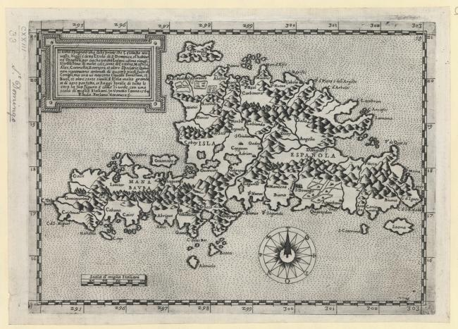 A map of Hispaniola