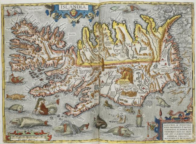 A map of Iceland, titled 'Islandia'.
