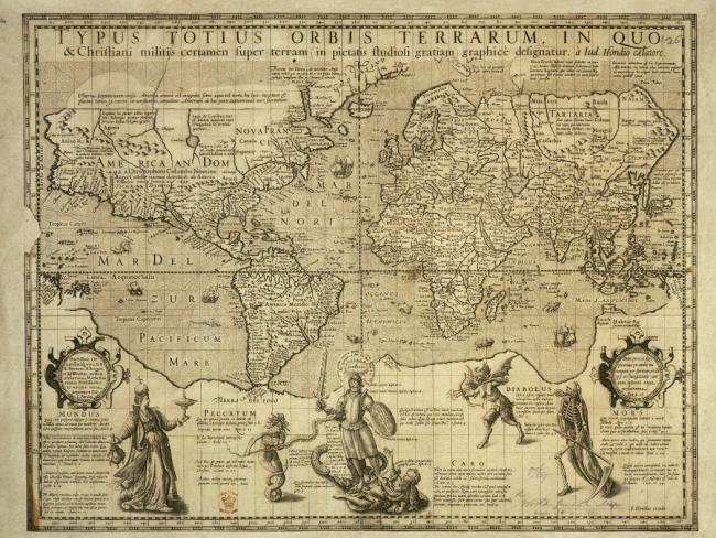 The 'Christian Knight' world map c.1597