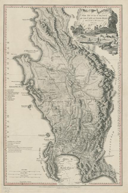 The Dutch colony of the Cape of Good Hope 1782