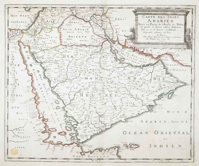 A map of the Three Arabias
