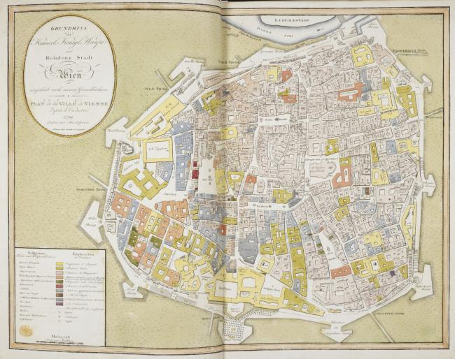 A map of the city of Vienna