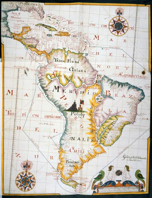 Map of the West Indies and South America,