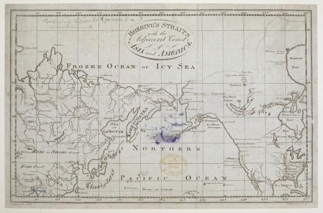 The Bering Strait with the adjacent coasts of Asia and America