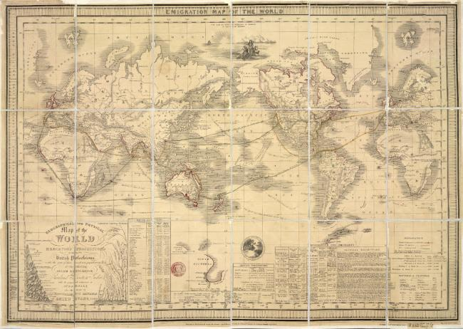 Emigration Map of the World,.