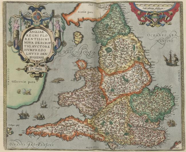 A 16th century map of England.
